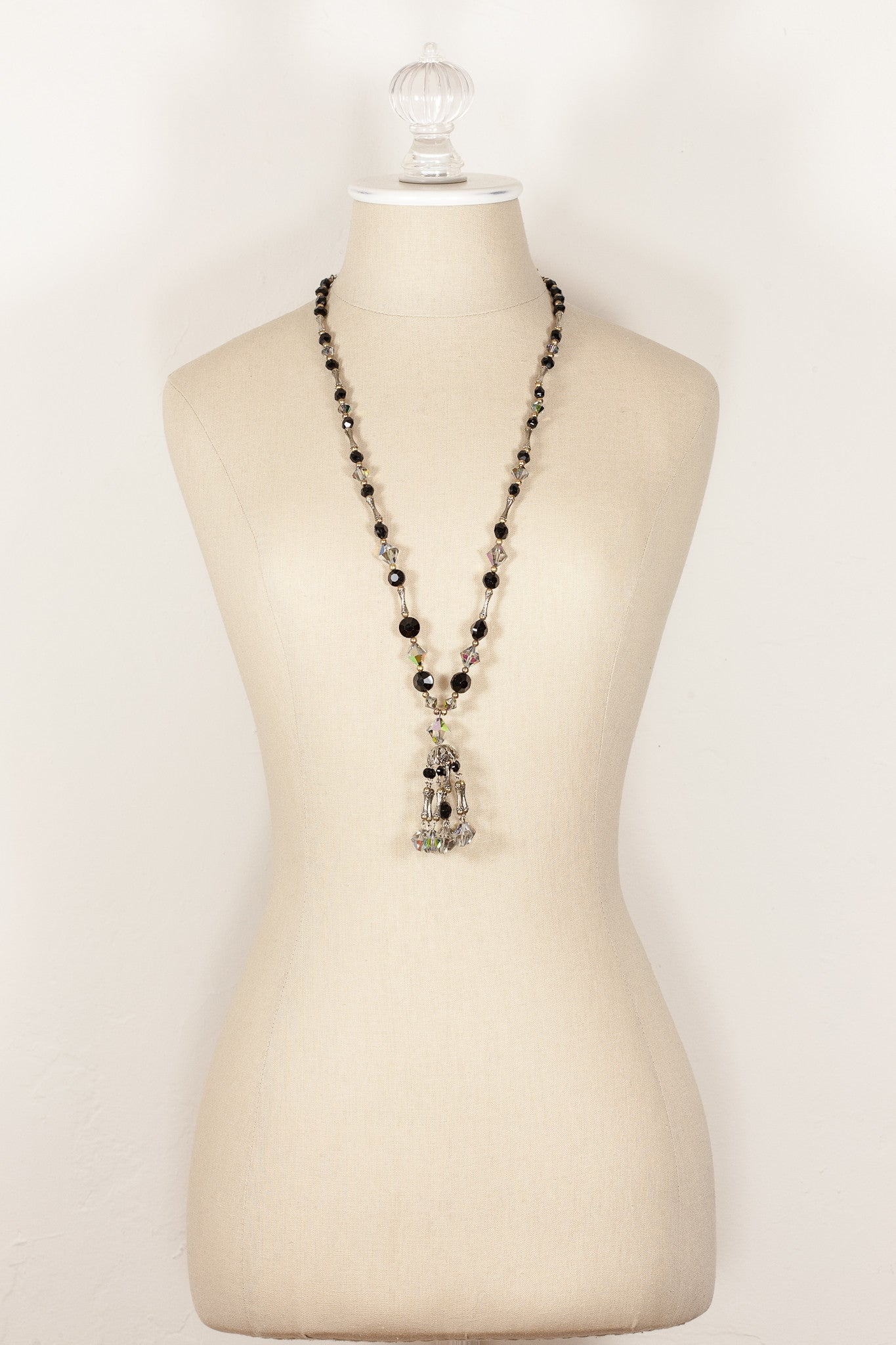 50's__Vintage__Crystal Tassel Necklace
