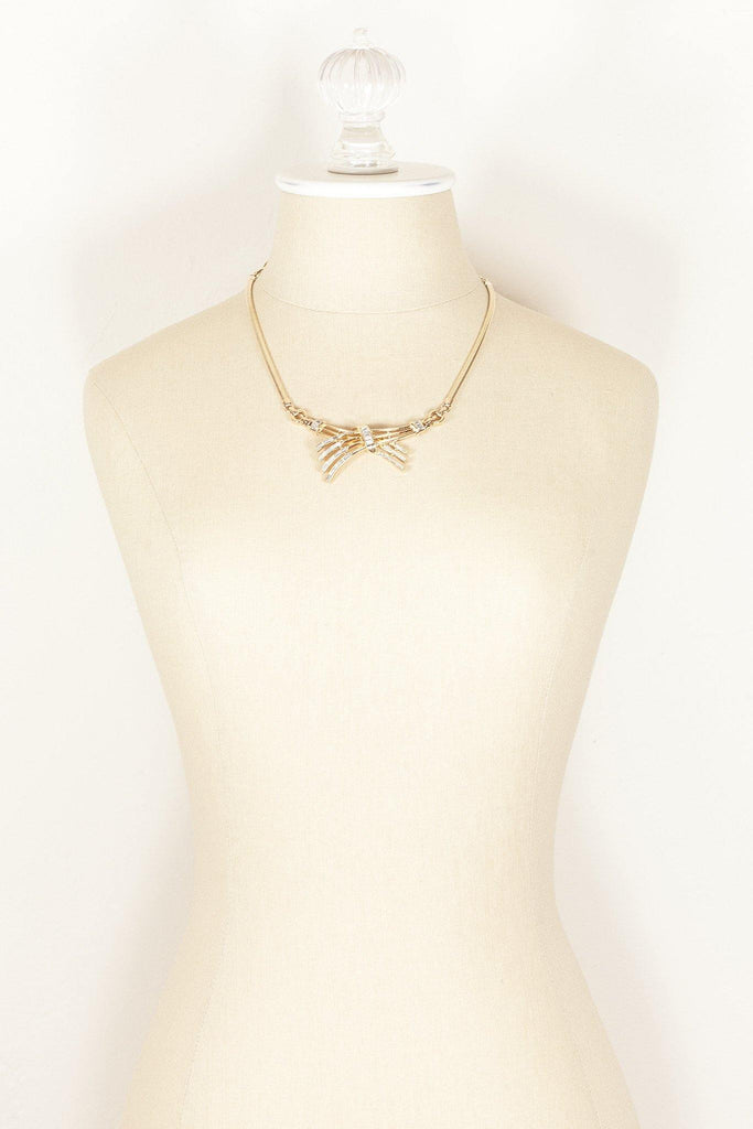 50's__Crown Trifari__Bow Necklace