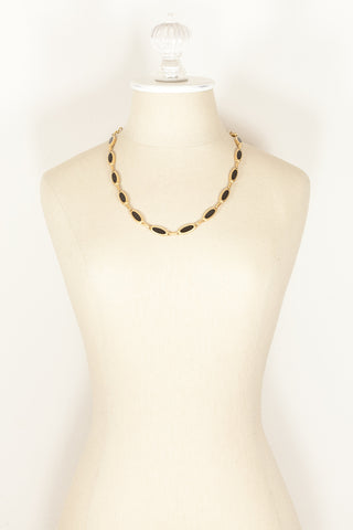 90's__Anne Klein__Black Enamel Necklace
