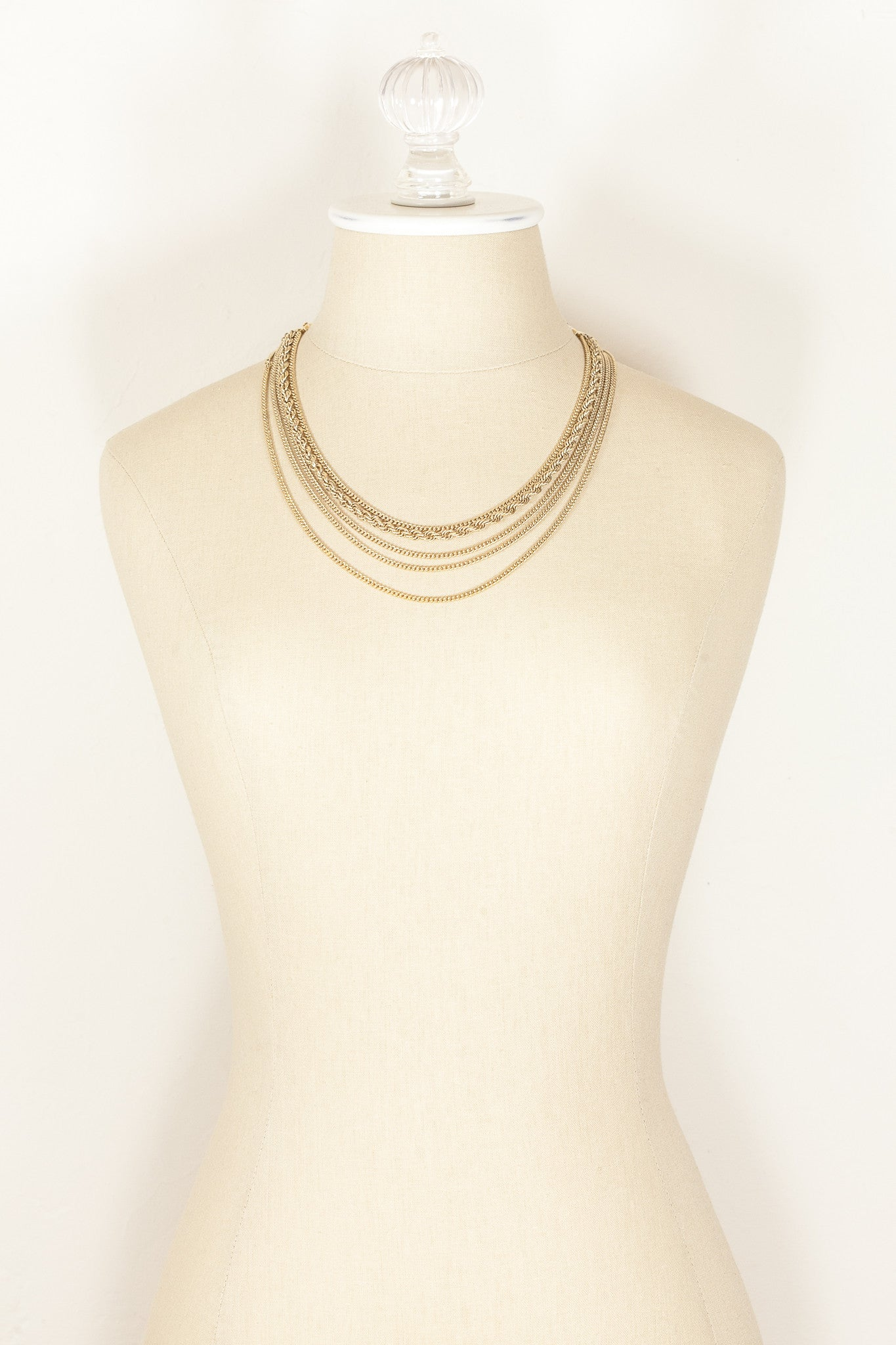 70's__Monet__Multi Chain Necklace