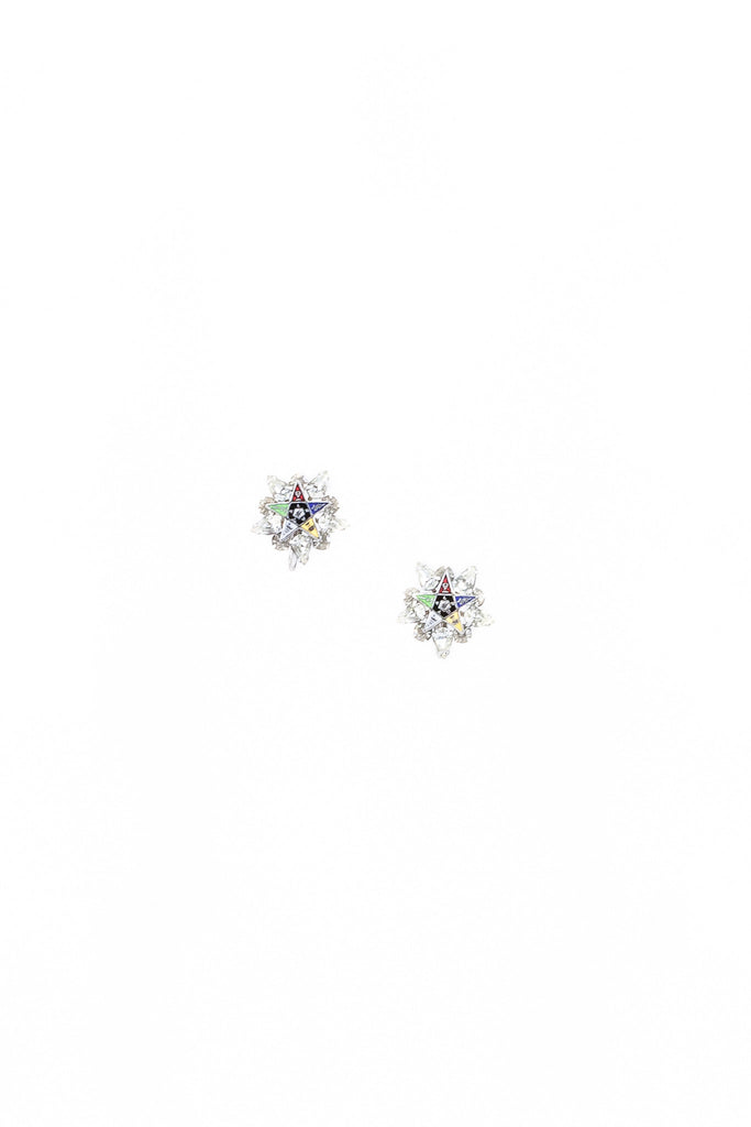 40's__Vintage__Nautical Rhinestone Earrings