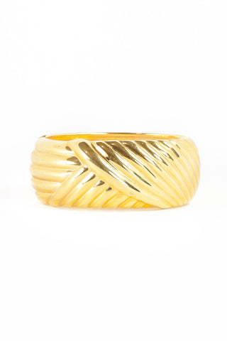 80's__Joan Rivers__Bold Weave Bangle