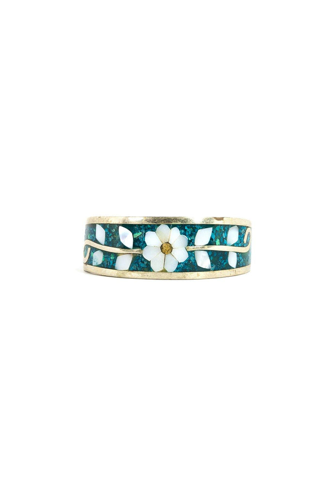 60's__Vintage__Mosaic Floral Cuff