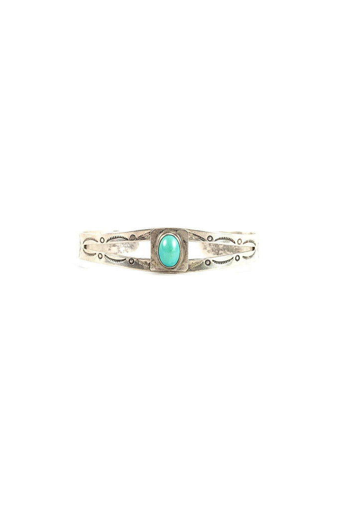 60's__Vintage__Simple Turquoise Cuff