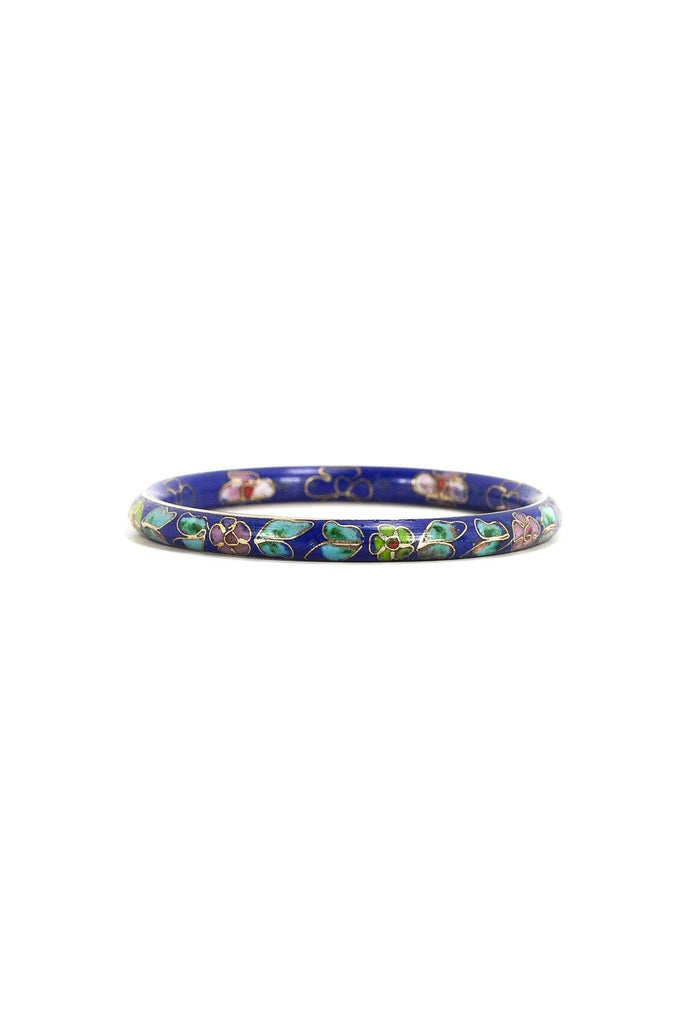 50's__Vintage__Floral Cloisonné Bangle