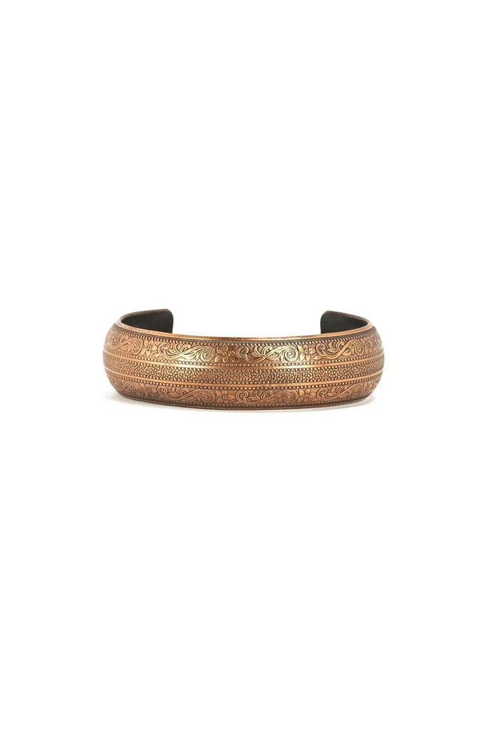 60's__Vintage__Etched Boho Cuff