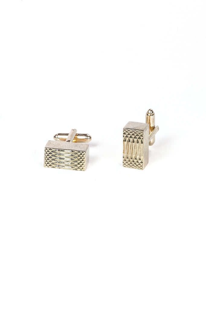 70's__Dante__Chunky Rectangle Cuff Links