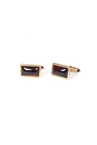 70's__Krementz__Ruby Cuff Links