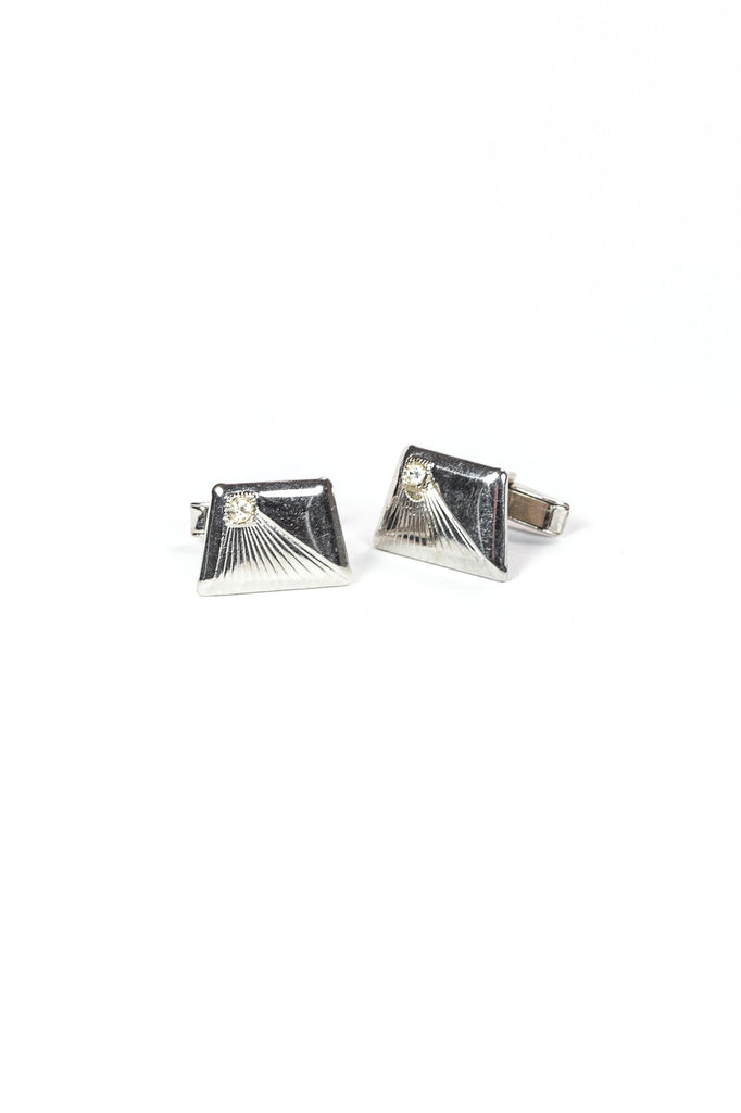 70's__Vintage__Silver Cuff Links