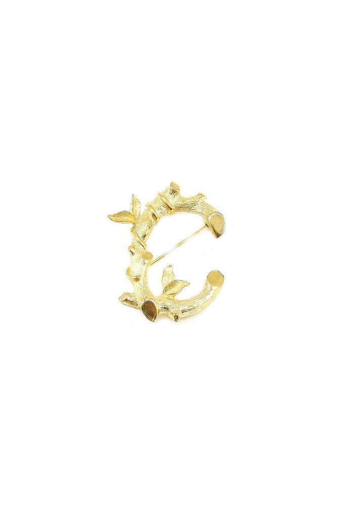 "70s__Sarah Coventry__Gold ""C"" Monogram Brooch"