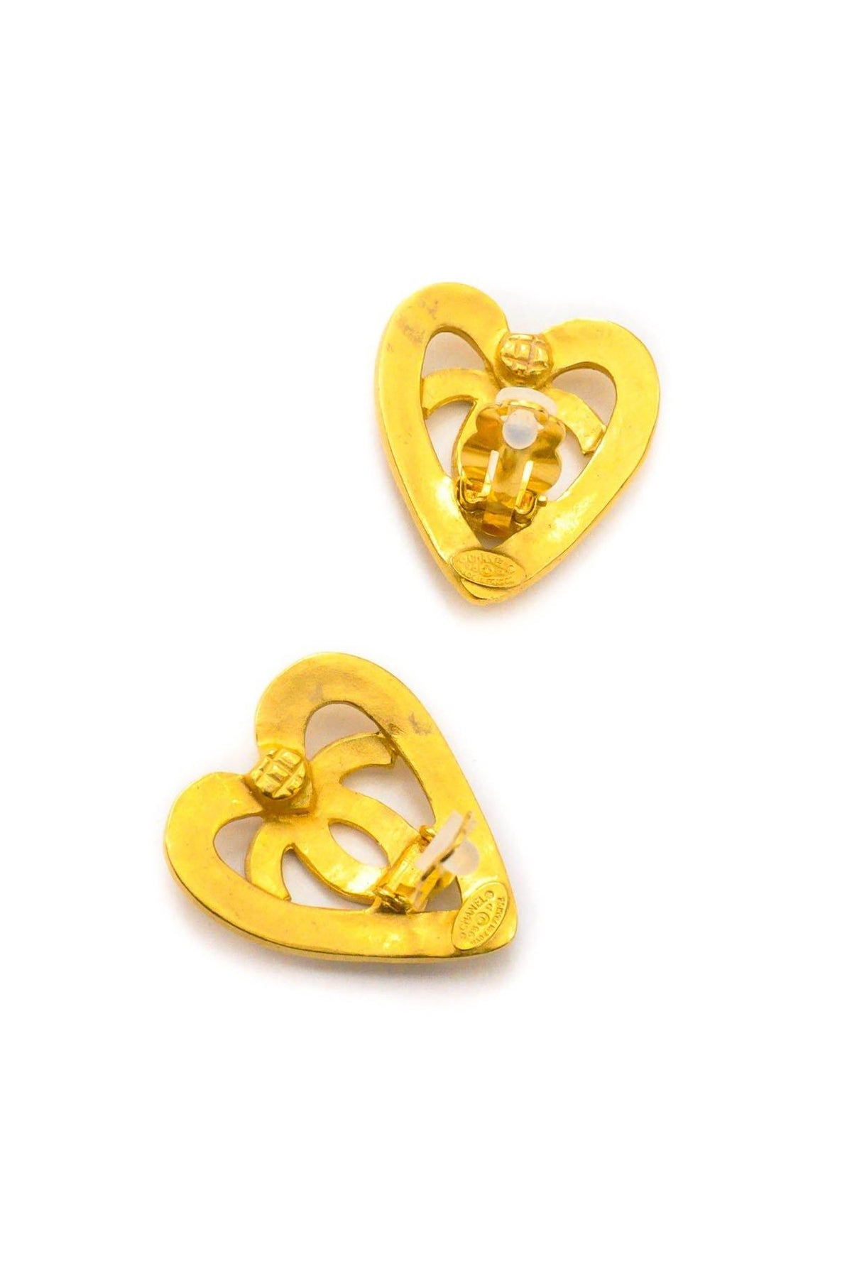 Vintage Chanel  CC Clip-on Earrings from Sweet and Spark
