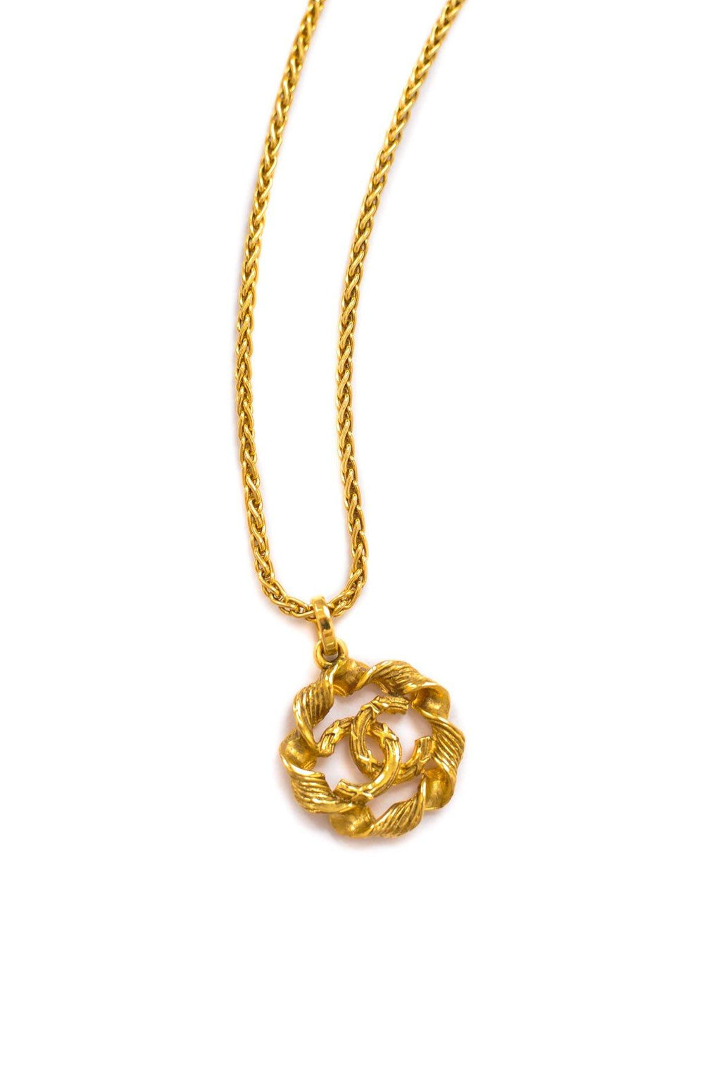 Chanel CC Twisted Pendant Necklace