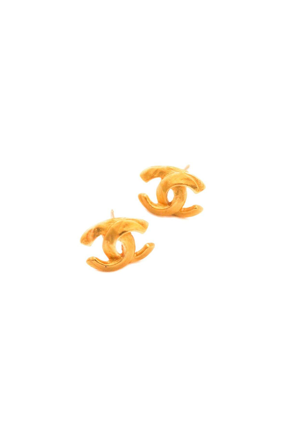 Chanel Mini CC Pierced Earrings