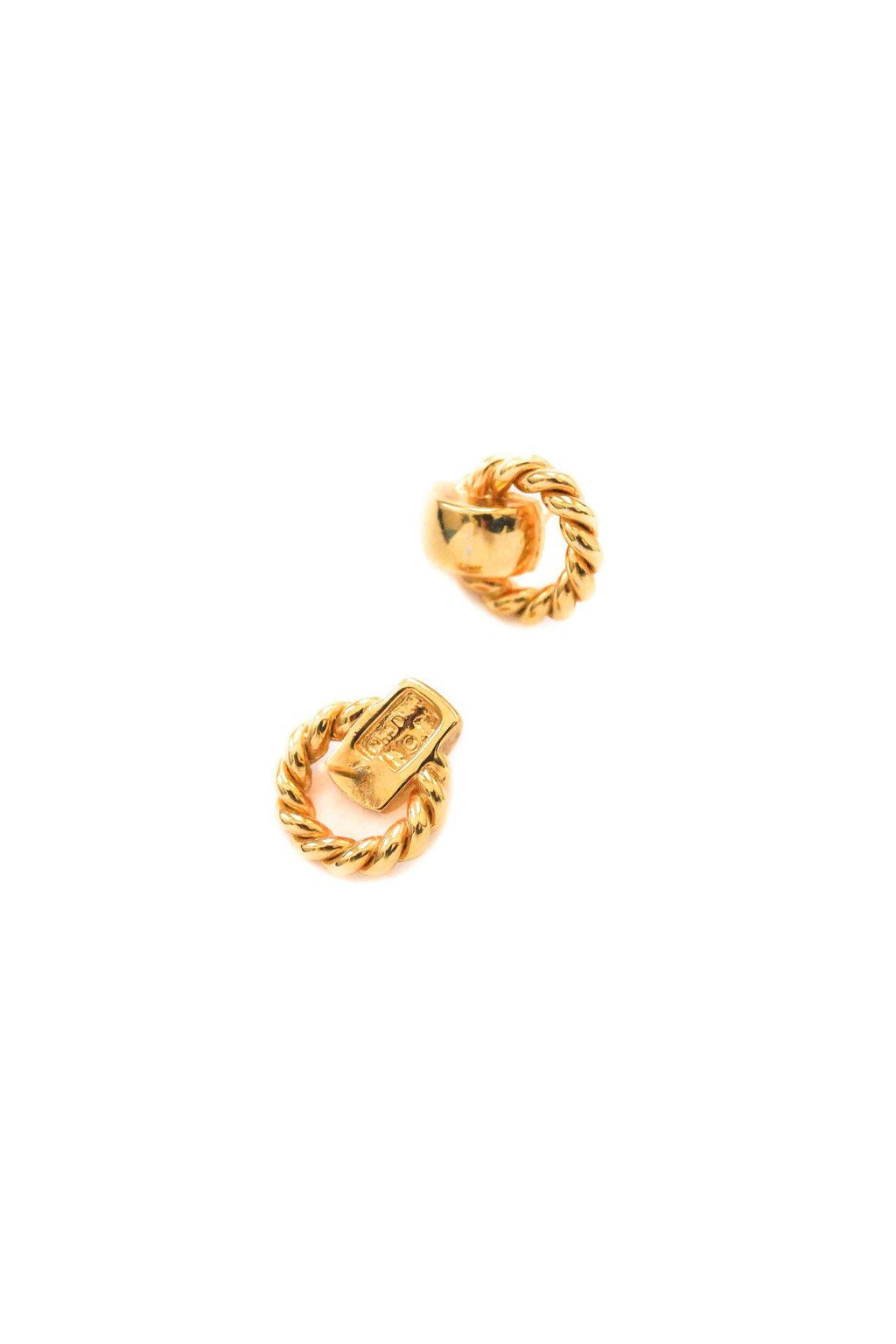 Christian Dior Rope Pierced Earrings