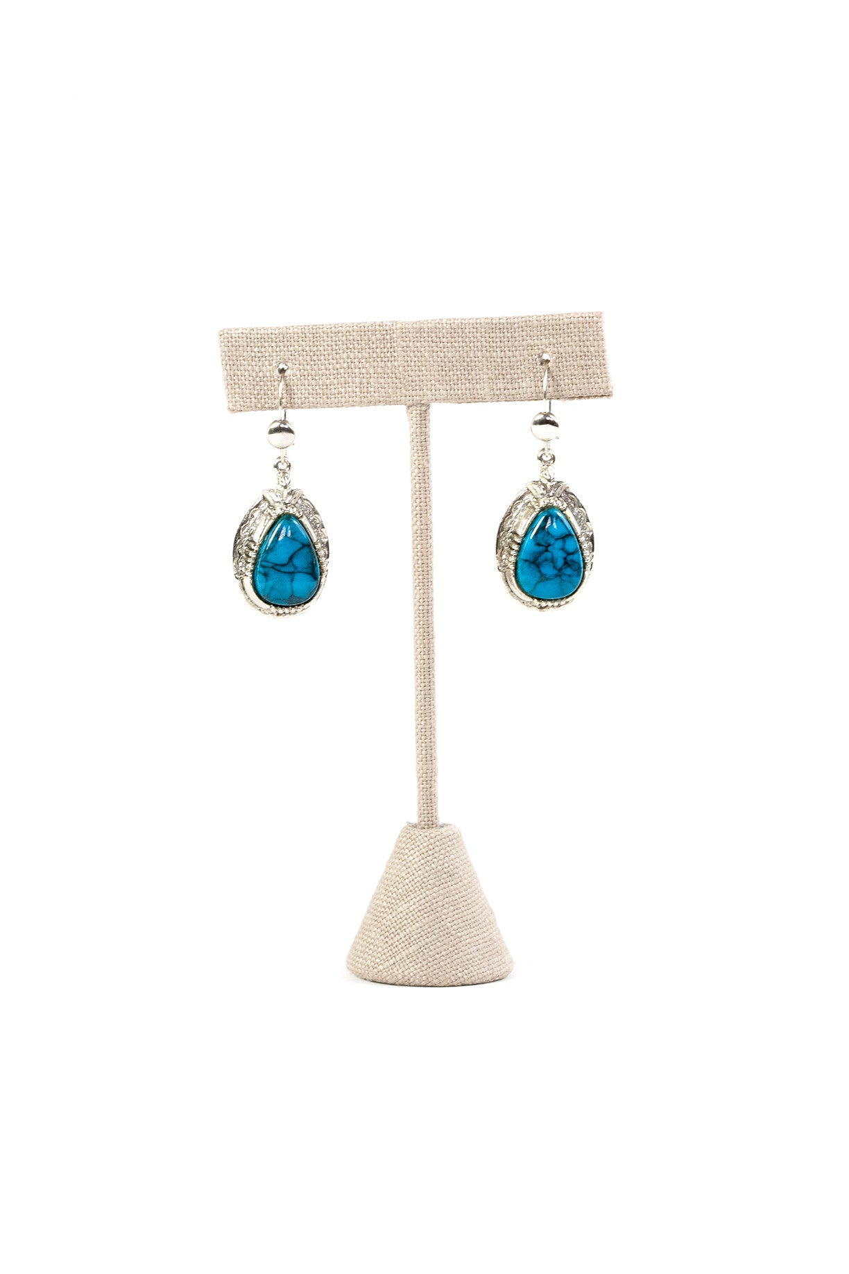 80's__Vintage__Turquoise Drop Earrings