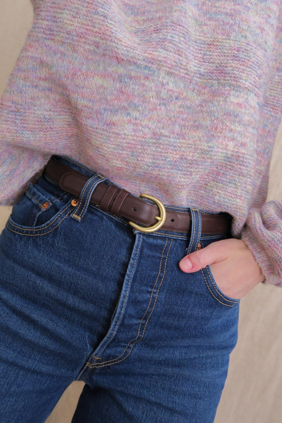 Brown Leather Belt - Sweet & Spark