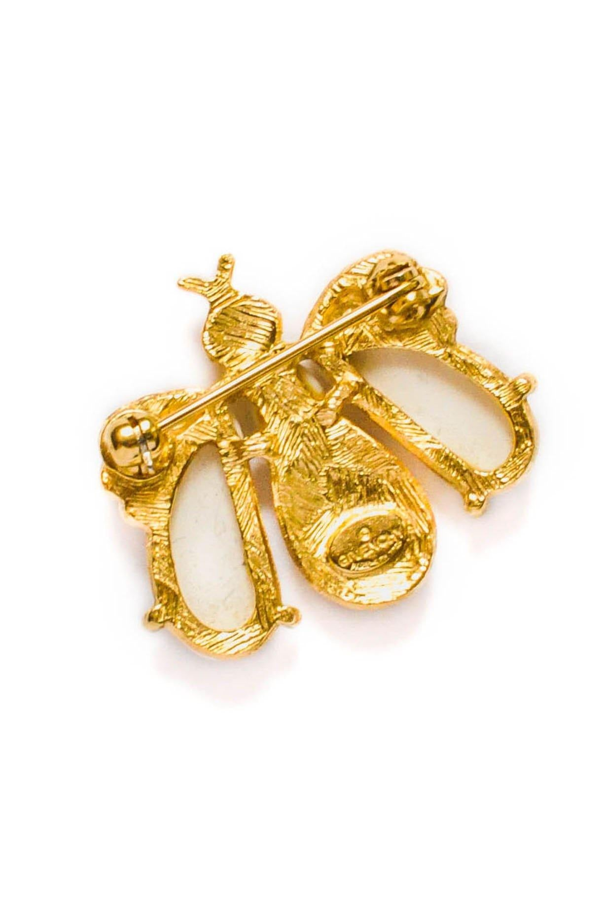 Givenchy White Bee Brooch