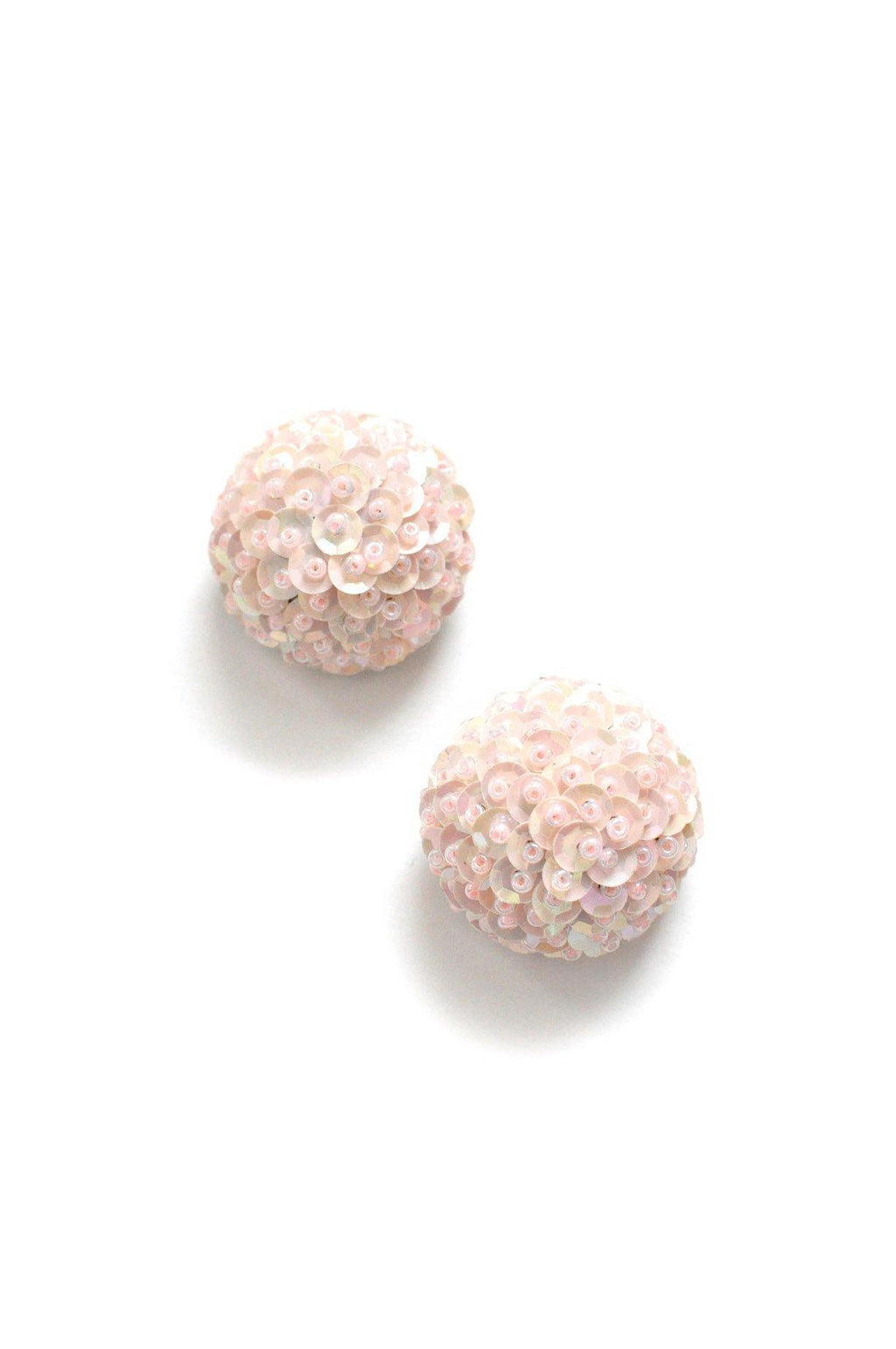Blush Sequin Clip-on Earrings