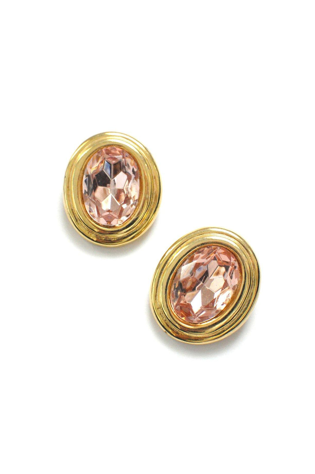 Pink Gem Clip-on Earrings