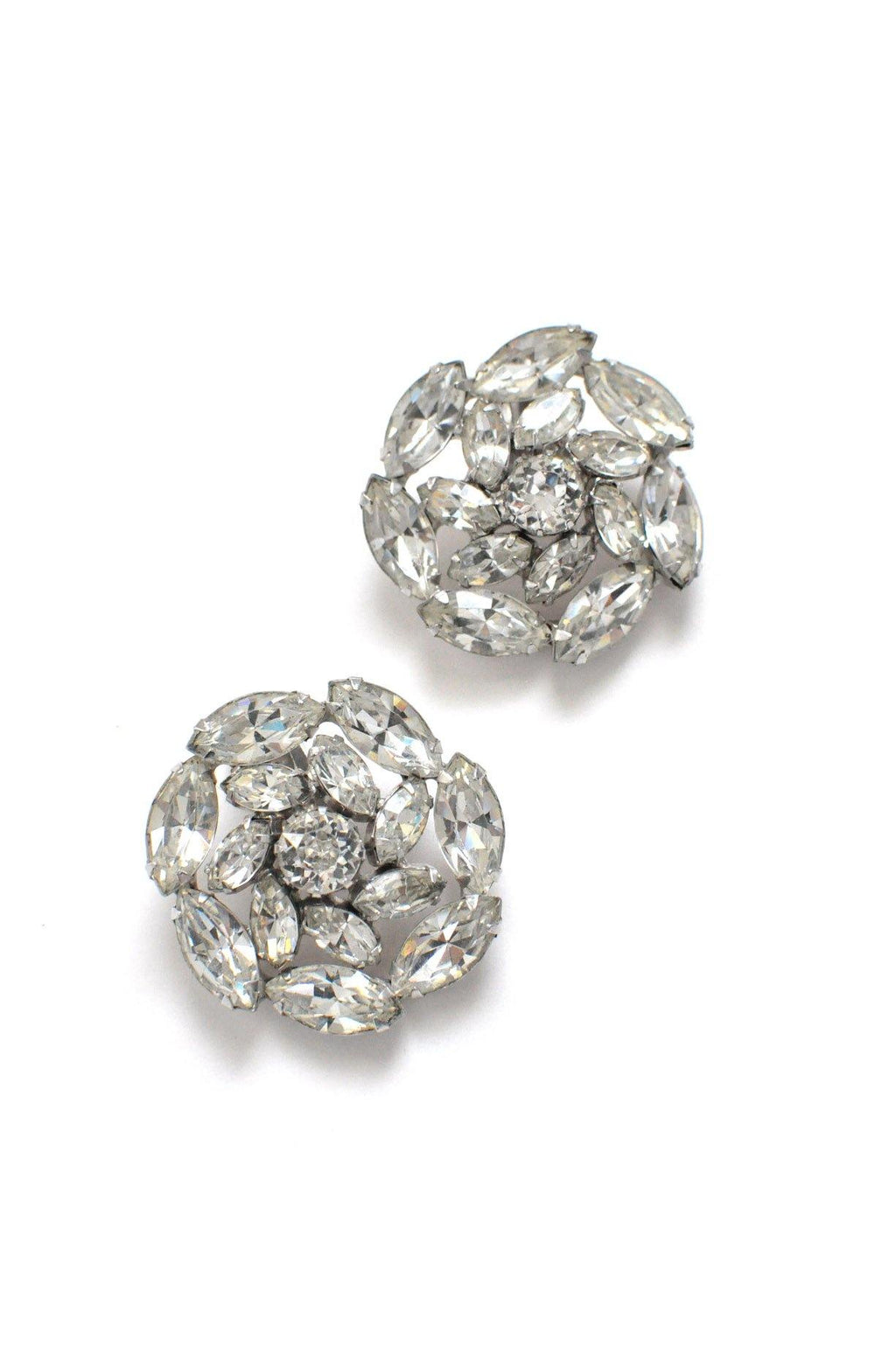 Rhinestone Statement Clip-on Earrings
