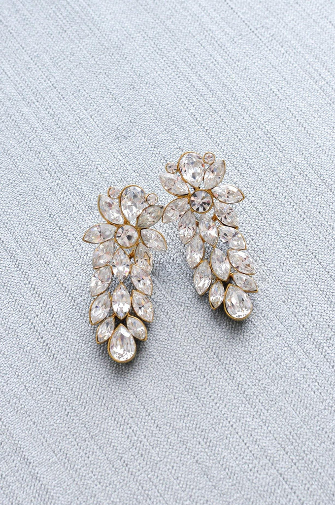 Rhinestone Statement Pierced Earrings