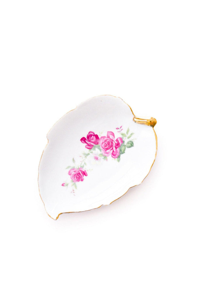 Floral Leaf Jewelry Dish