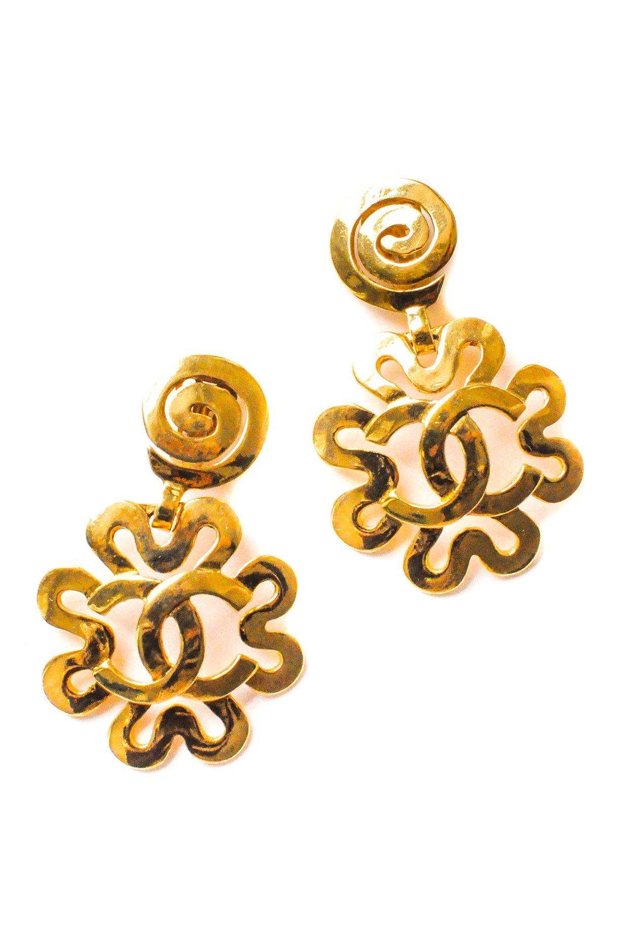 Chanel Statement Swirl Clip-on Earrings