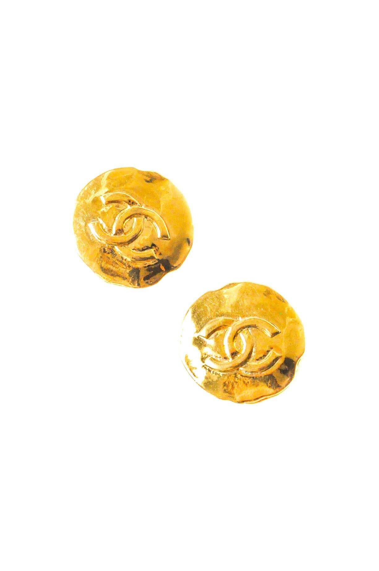 Chanel CC Logo Clip-on Earrings