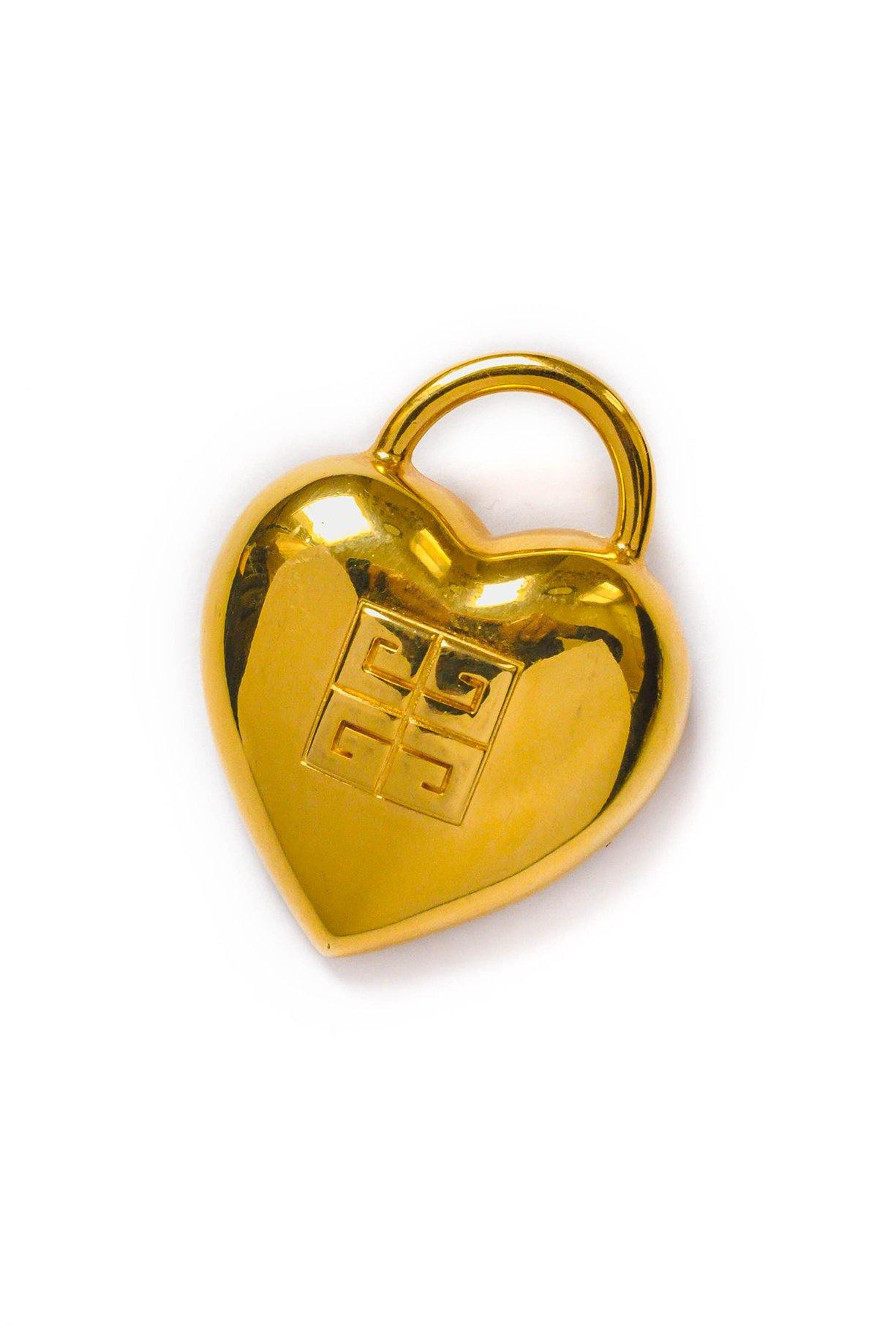 Givenchy Jumbo Heart Lock Brooch