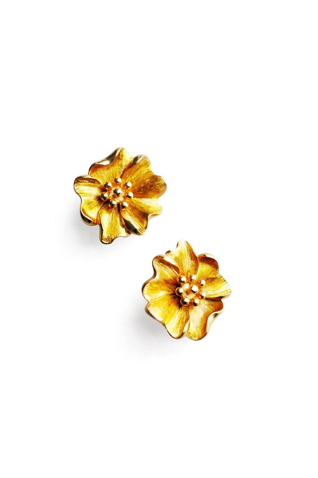 Brushed Floral Clip-on Earrings
