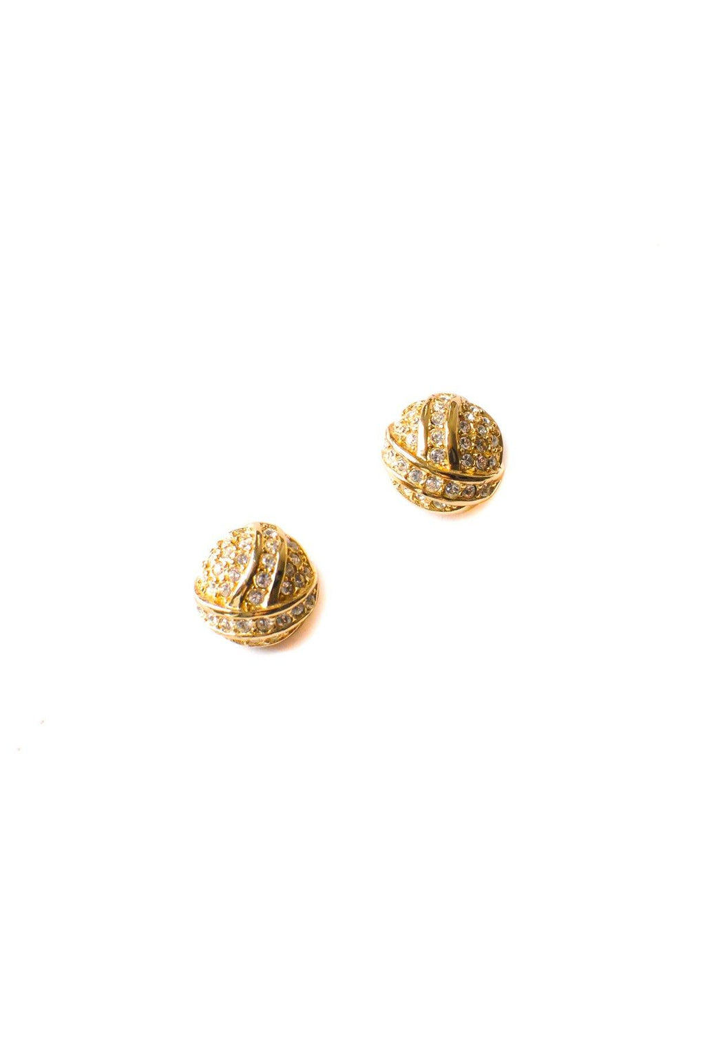 Christian Dior Rhinestone Earrings