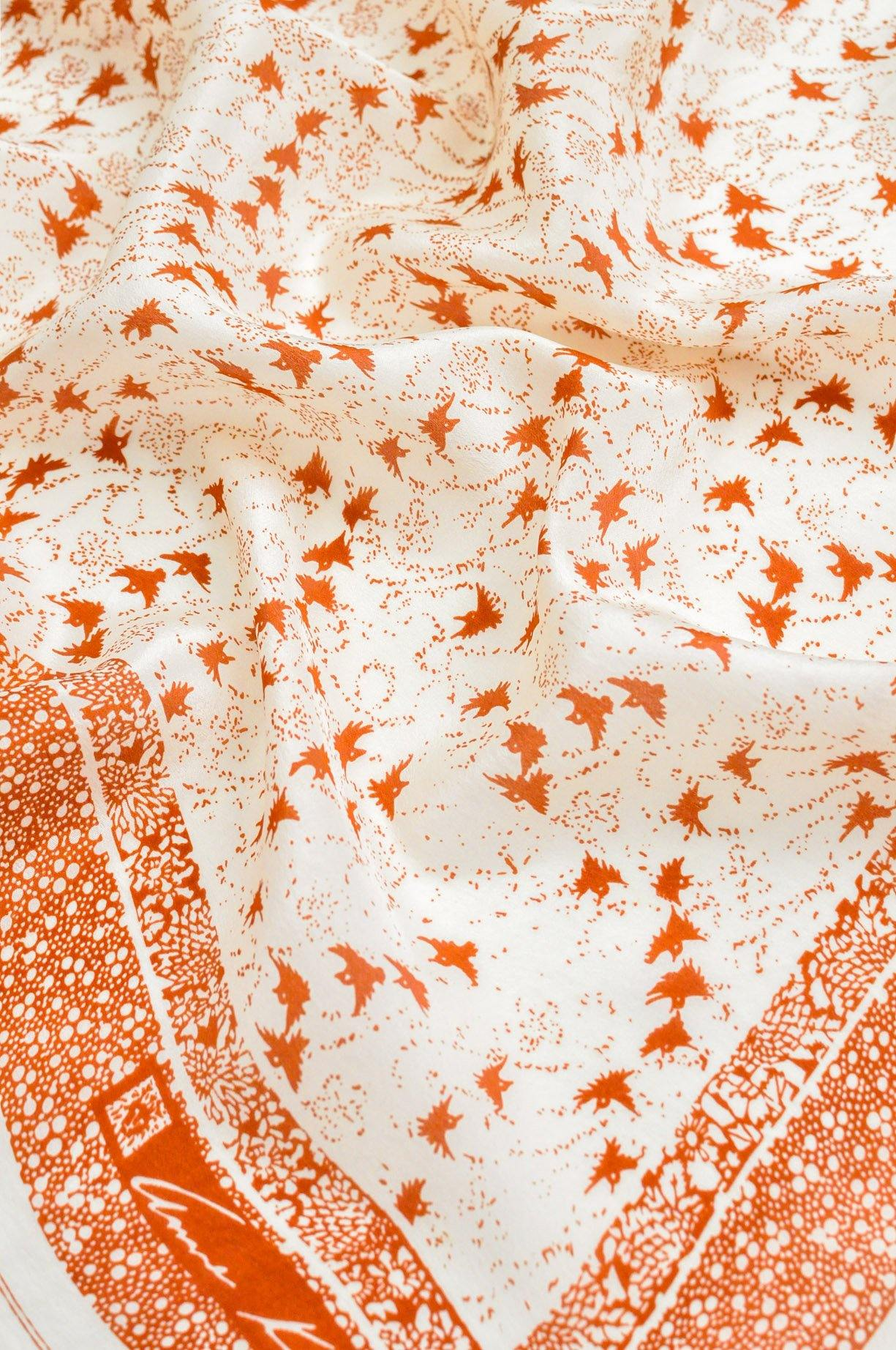 Bird Dot Square Scarf