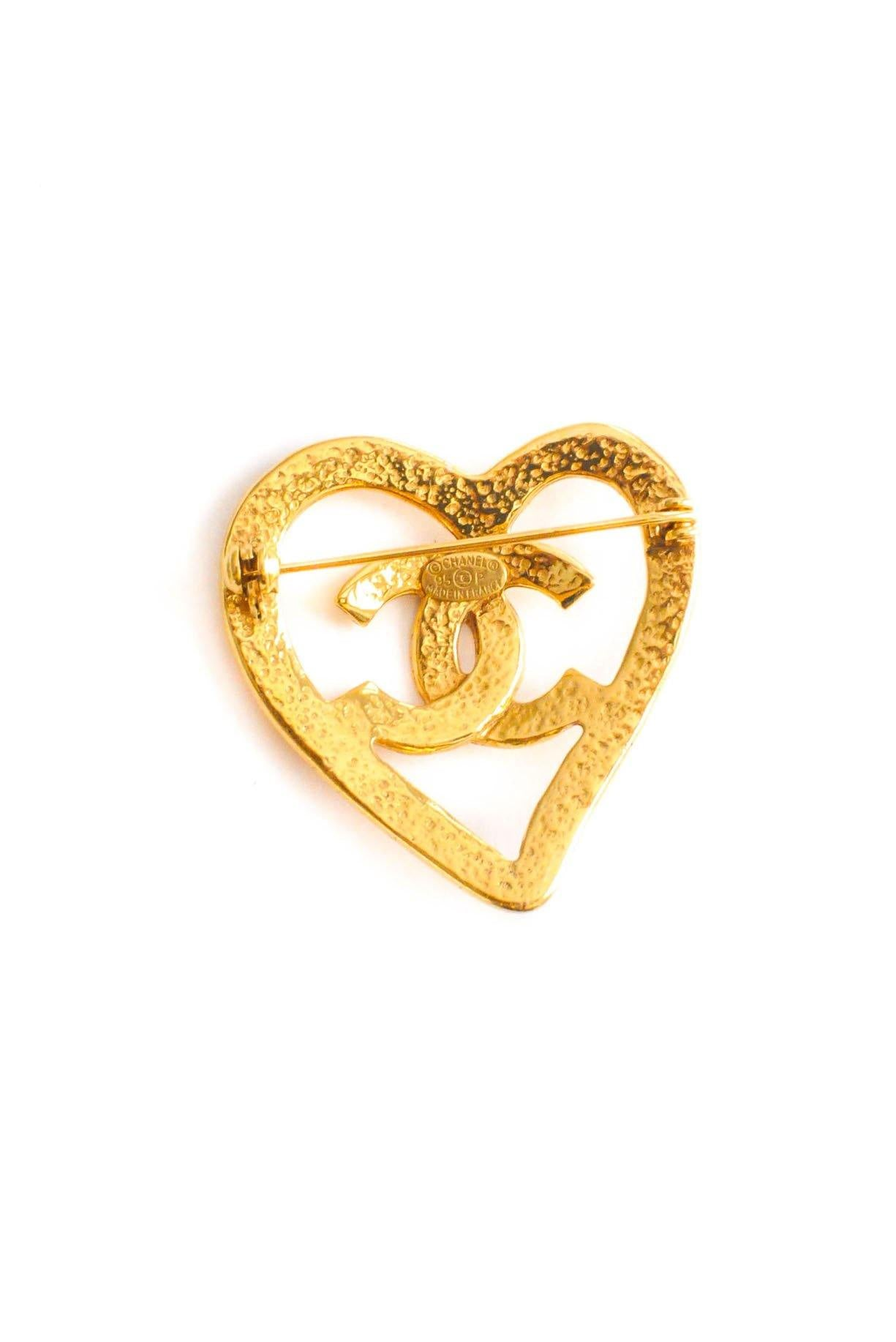 Chanel Heart Brooch