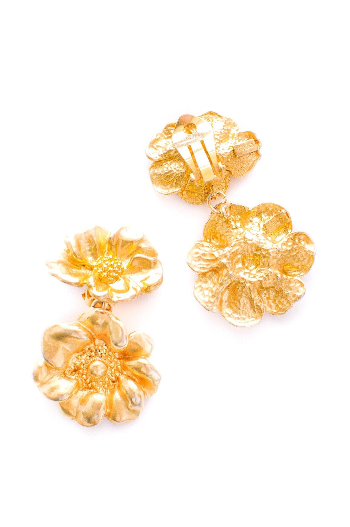 Kenzo Floral Clip-on Earrings