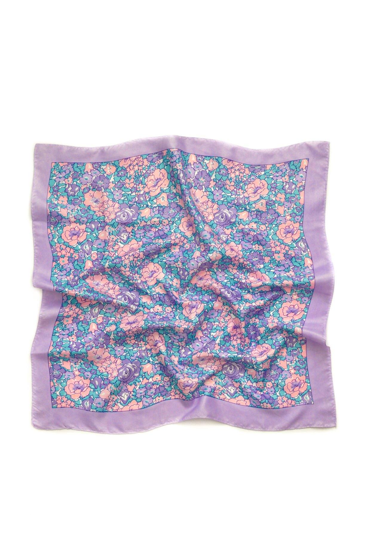 Pastel Floral Square Scarf