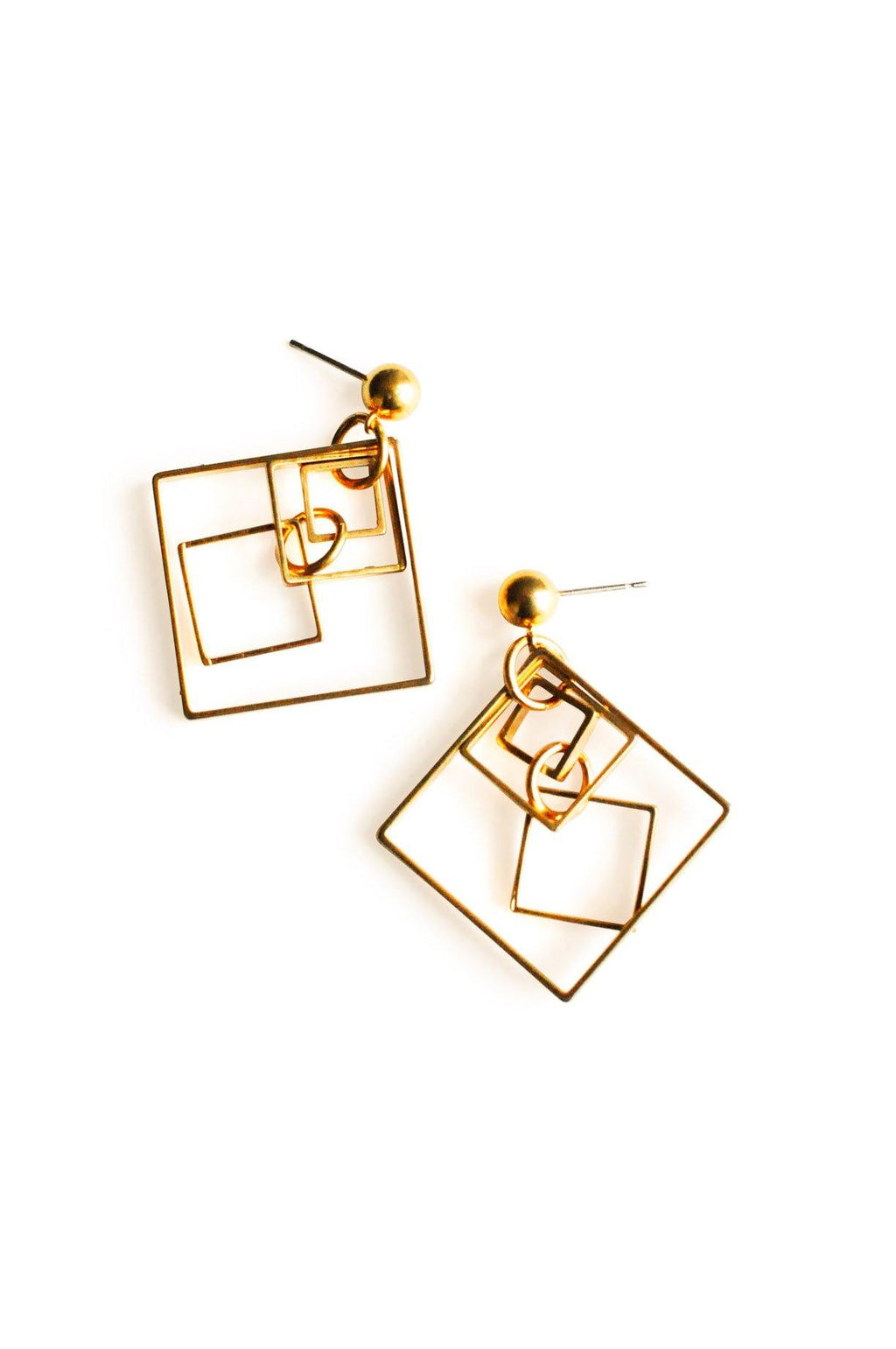 Squares Pierced Earrings
