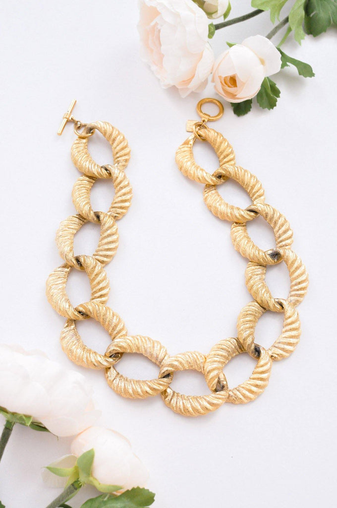 Chunky Textured Chain Necklace