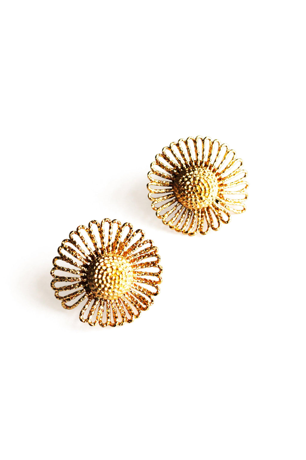 Gold Burst Clip-on Earrings