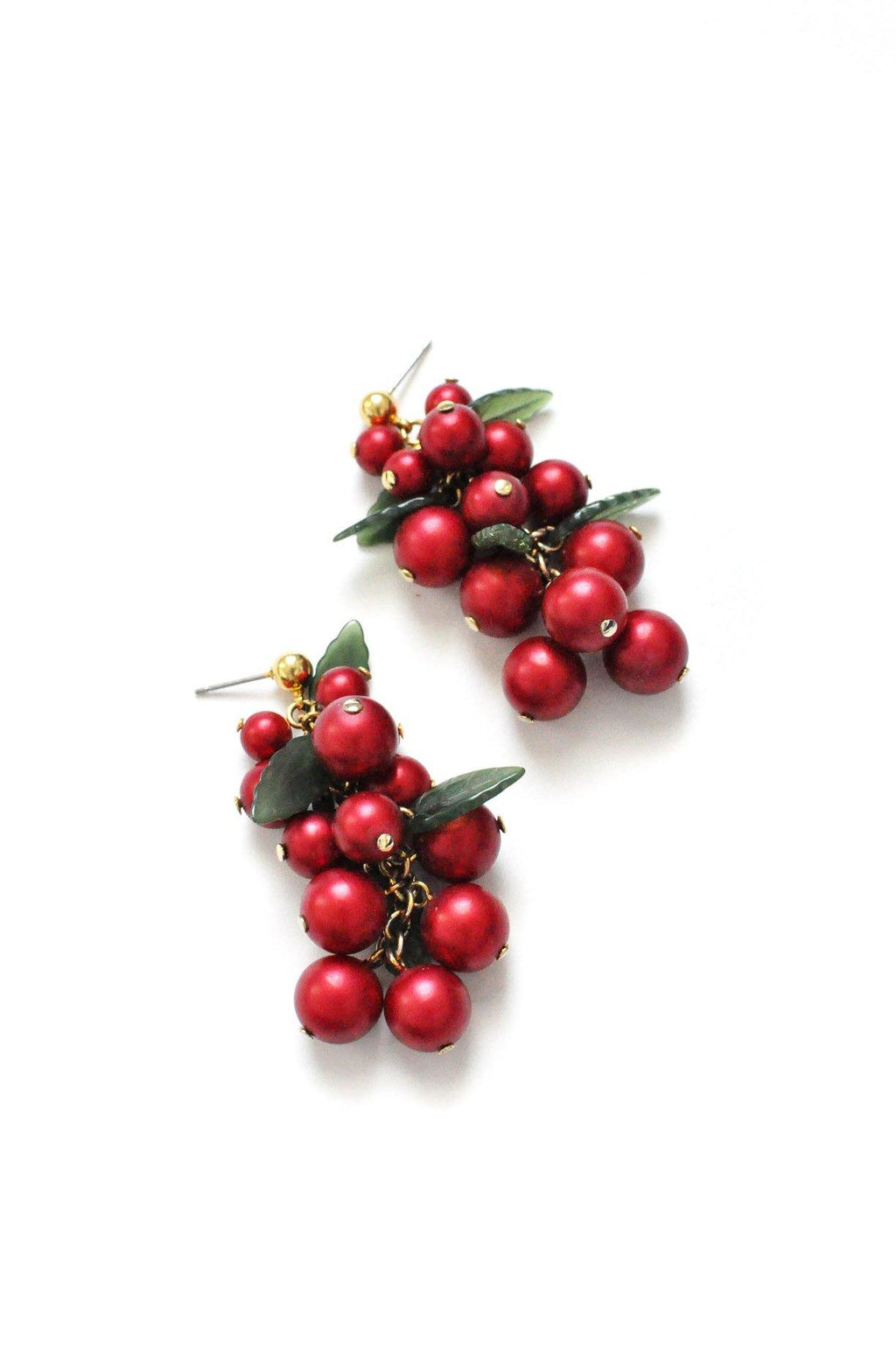 Cherry Drop Pierced Earrings