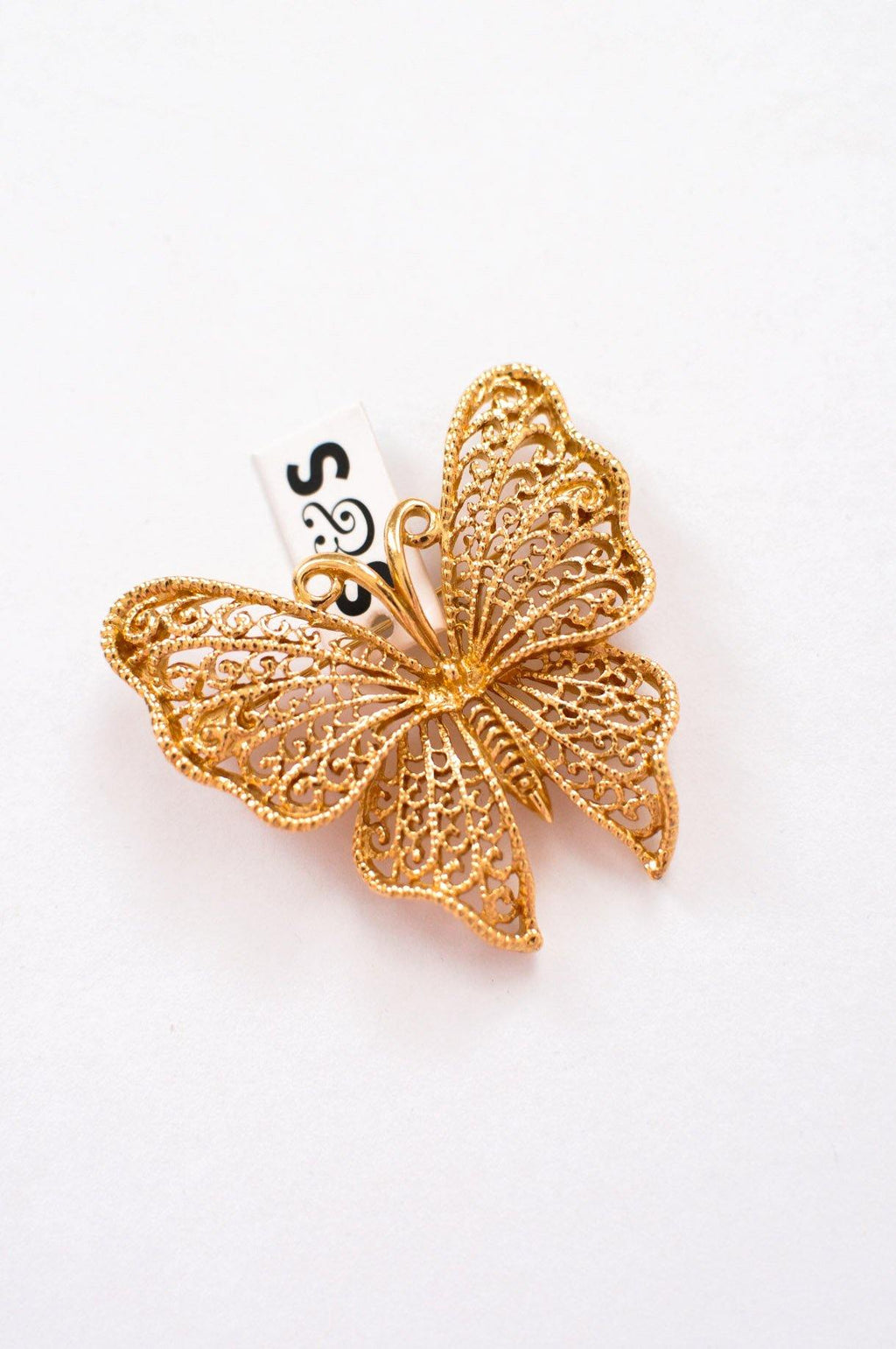 Filagree Butterfly Brooch