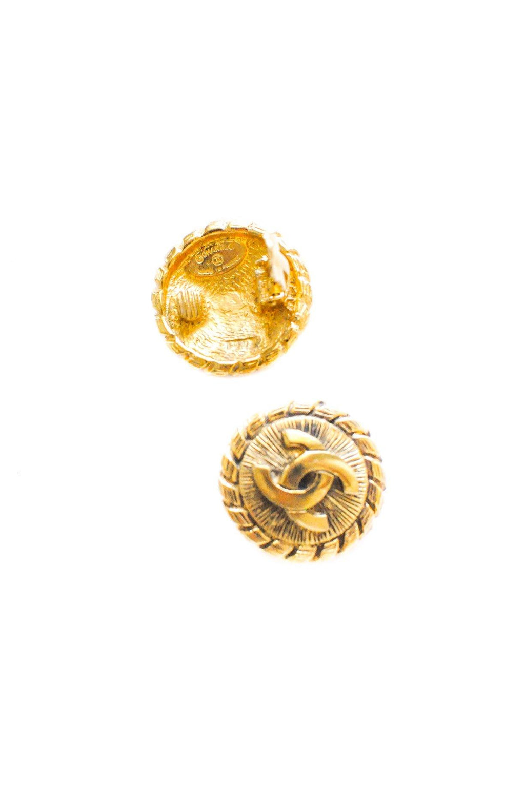 Chanel Rope Disc Clip-on Earrings