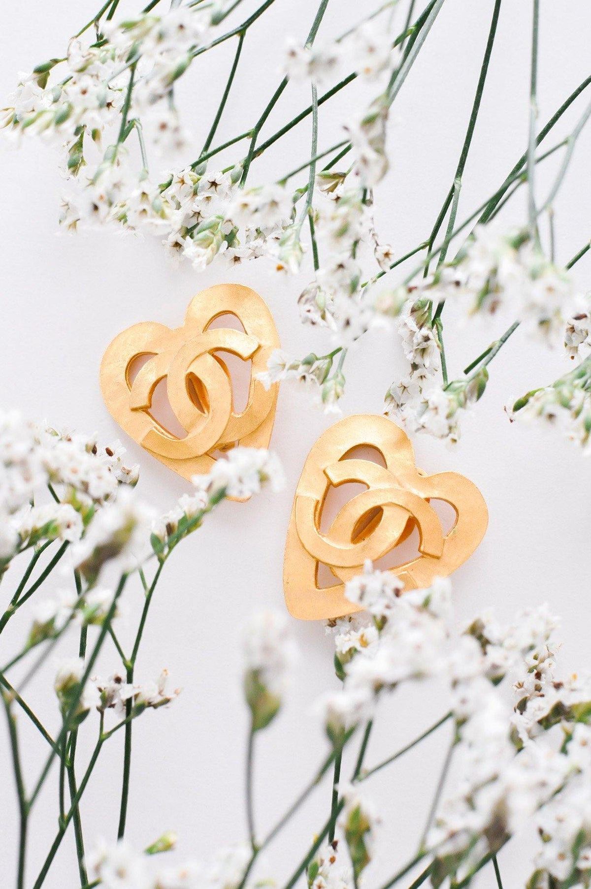 Vintage Chanel Statement Heart Earrings from Sweet & Spark.