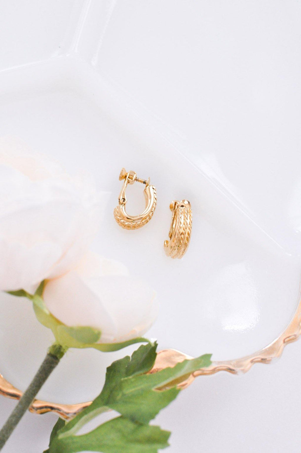 Dainty Rope Clip-On Earrings