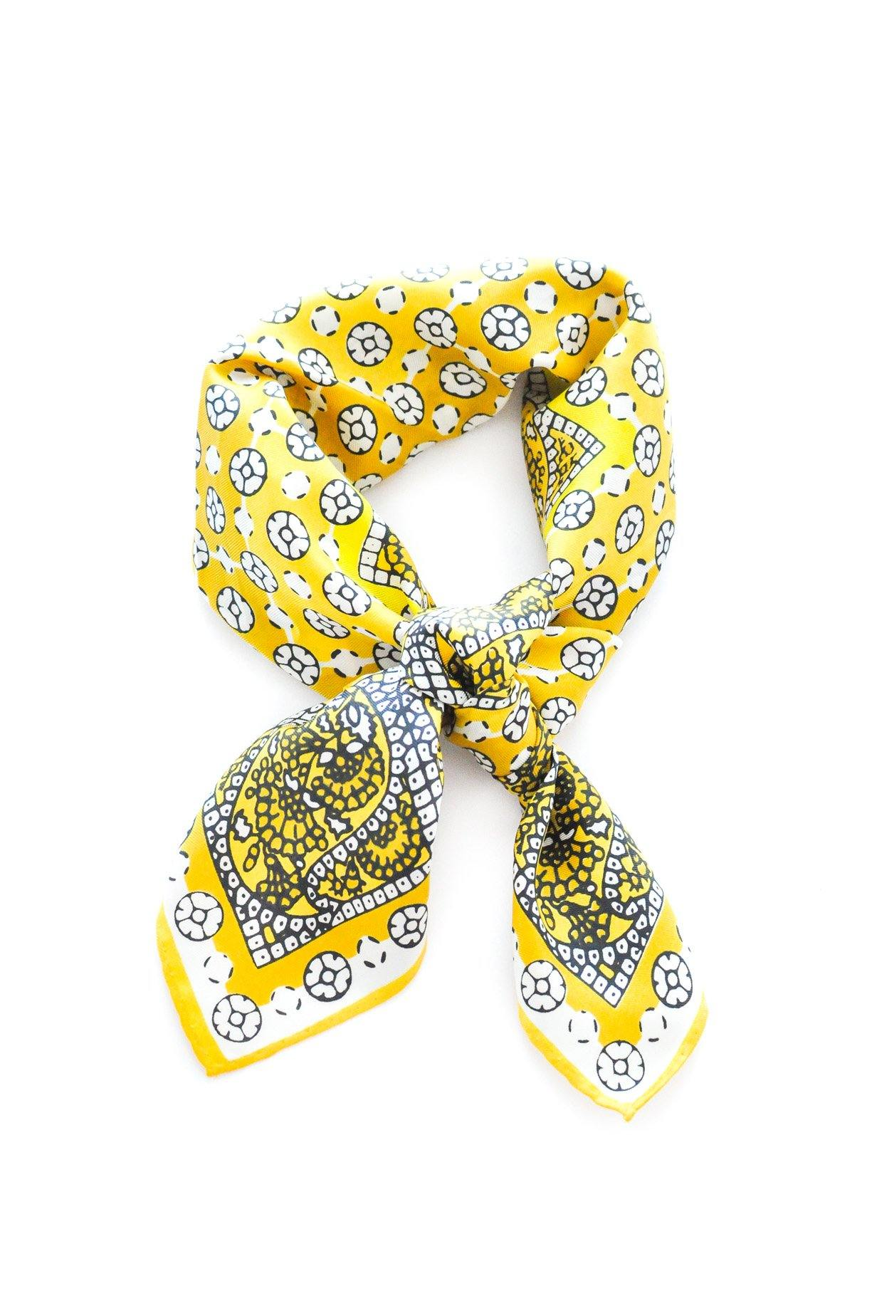 Paisley Tile Print Square Scarf