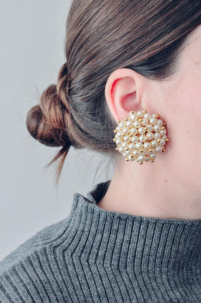 Pearl Confetti Clip-on Earrings