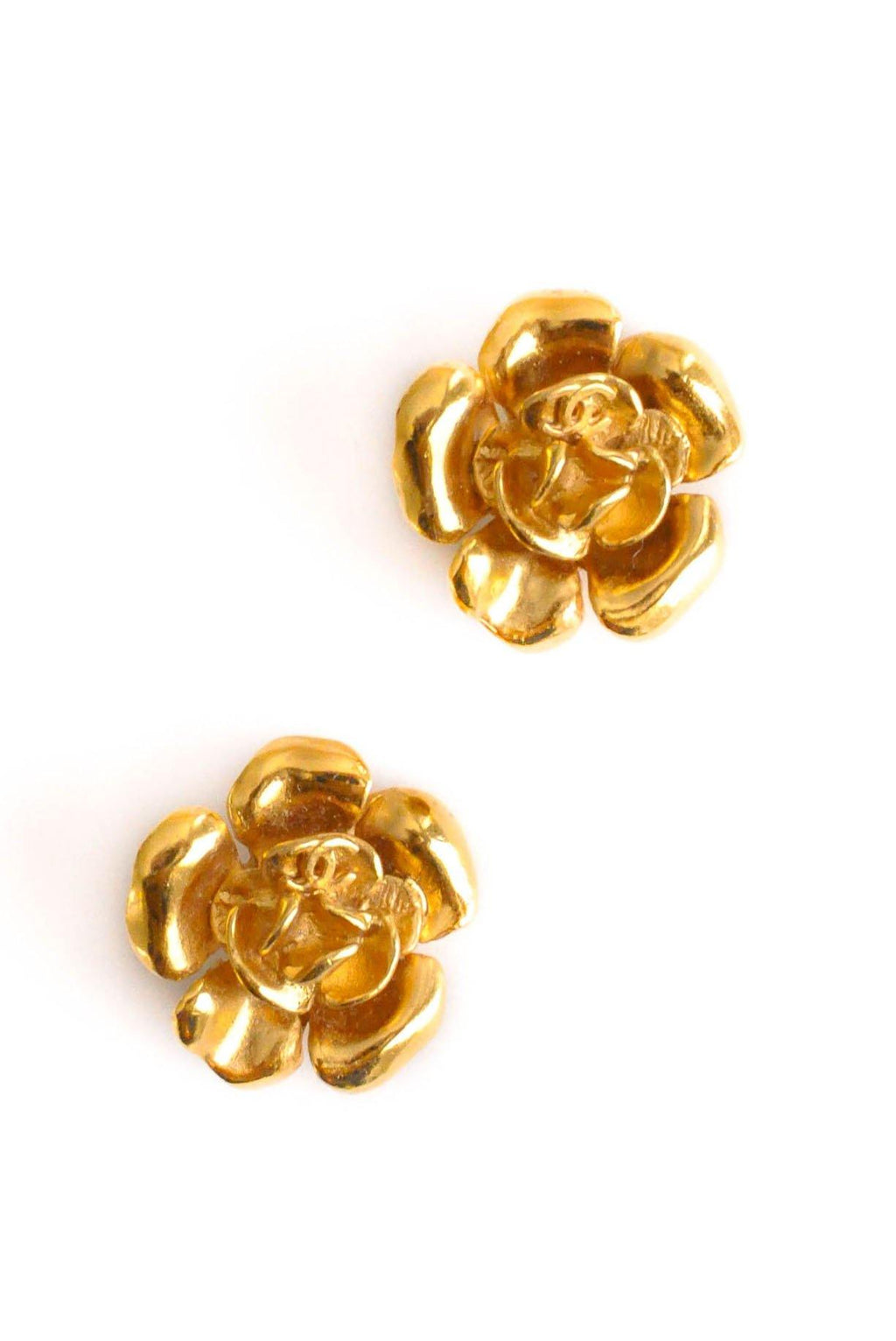 Chanel Floral Clip-on Earrings