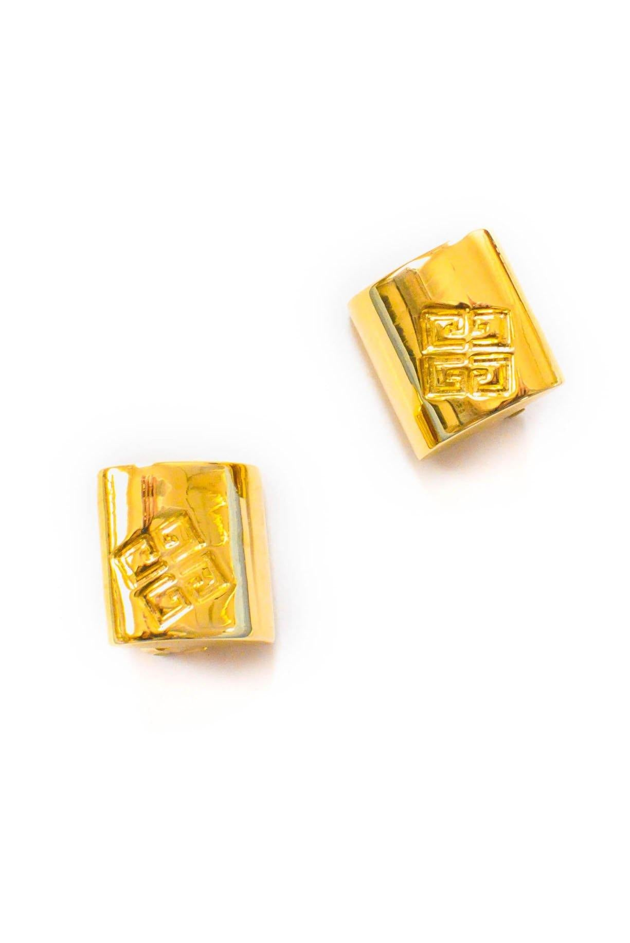 Vintage Givenchy Logo Clip-on Earrings from Sweet and Spark