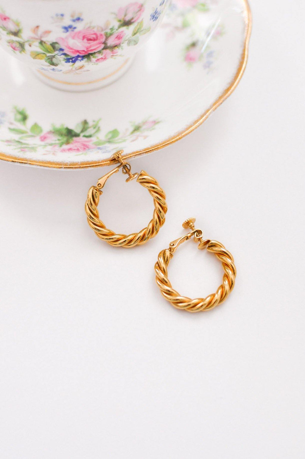 Twisted Hoop Clip-on Earrings