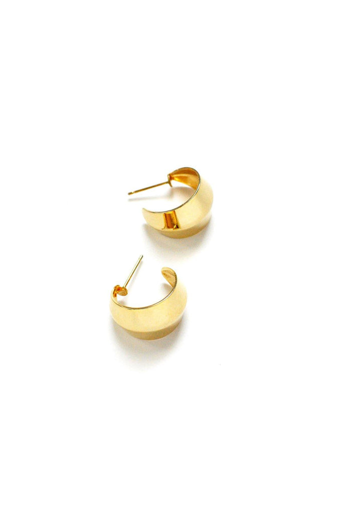 Gold Hoop Pierced Earrings