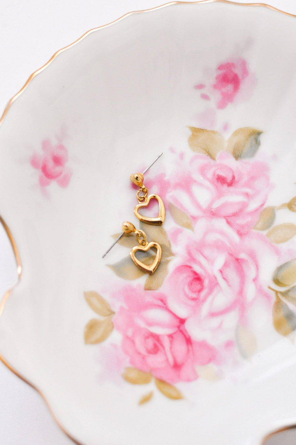 Dainty Heart Pierced Earrings